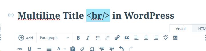 Displaying Titles in Multiline in WordPress